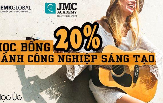 Học viện JMC – Học bổng 20% ngành công nghiệp sáng tạo