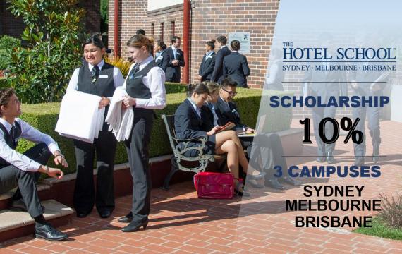 The Hotel School- Học cơ sở mới Brisbane- Nhận ngay học bổng